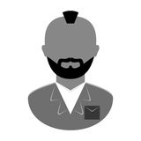 Grayscale arrested man icon image Royalty Free Stock Photography