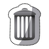 Grayscale can trash icon. Illustraction design Royalty Free Stock Images