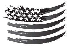 Grayscale del vector de la bandera de los E.E.U.U. Fotografía de archivo