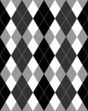 Grayscale do teste padrão de Argyle Foto de Stock
