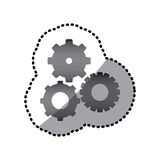 Grayscale gears sign icon Royalty Free Stock Images
