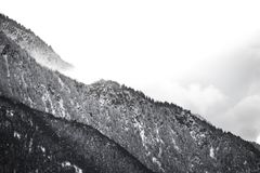 Grayscale High Mountain Photo Royalty Free Stock Photo