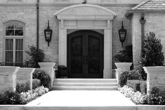 Grayscale Home. A photograph taken of a house entrance royalty free stock photos