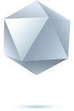 Grayscale icosahedron for graphic design Stock Image