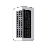 Grayscale long build of city icon. Illustraction design image Stock Photos