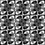 Grayscale, monochrome mosaic texture, seamlessly repeatable patt. Ern. - Royalty free vector illustration Stock Image