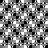 Grayscale, monochrome mosaic texture, seamlessly repeatable patt Royalty Free Stock Photography