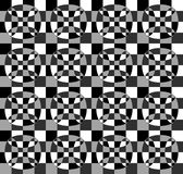 Grayscale, monochrome mosaic texture, seamlessly repeatable patt. Ern. - Royalty free vector illustration Stock Photos