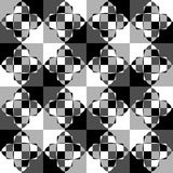 Grayscale, monochrome mosaic texture, seamlessly repeatable patt. Ern. - Royalty free vector illustration Royalty Free Stock Images