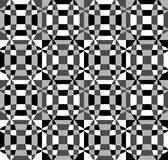 Grayscale, monochrome mosaic texture, seamlessly repeatable patt Stock Photography
