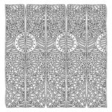 Grayscale pattern with geometric figures with circles and dots. Illustration Stock Photos