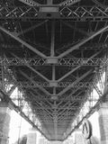 Grayscale Photo of Bridge Frame royalty free stock photo