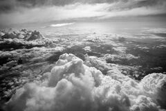 Grayscale Photo of Clouds Stock Image