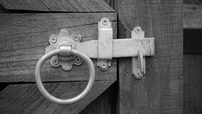 Grayscale Photo of Door Knock Stock Images