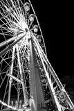 Grayscale Photo of Ferris Wheel royalty free stock images