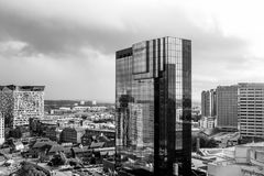 Grayscale Photo of High Rise Stock Photos