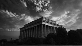 Grayscale Photo of the Parthenon Royalty Free Stock Photos