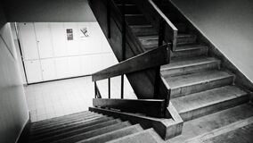 Grayscale Photo of Staircase royalty free stock photos