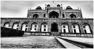 Grayscale Photo of Temple Stock Image