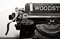 Grayscale Photo of Typewriter Royalty Free Stock Photography