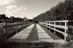 Grayscale Photography of Bridge Stock Photo