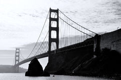 Grayscale Photography of Bridge Royalty Free Stock Photography