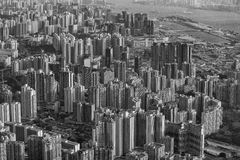 Grayscale Photography of Buildings Royalty Free Stock Image