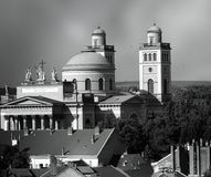 Grayscale Photography of Cathedral Stock Photography