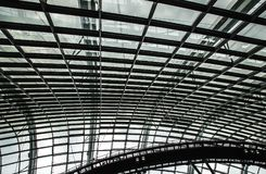 Grayscale Photography Of Ceiling Stock Image