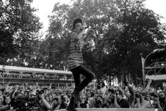 Grayscale Photography on Concert Royalty Free Stock Image