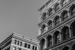 Grayscale Photography of Concrete Buildings Stock Images
