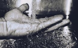 Grayscale Photography of Hand Stock Images