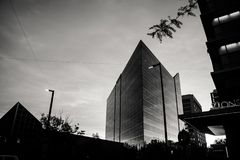 Grayscale Photography of High-rise Building royalty free stock photography