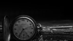 Grayscale Photography of Silver Watch Stock Photography