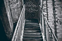 Grayscale Photography of Staircase Royalty Free Stock Photos