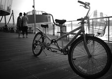Grayscale Photography of Tandem Bike Royalty Free Stock Photos