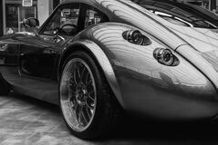 Grayscale Photography of Tvr Tuscani Stock Photo