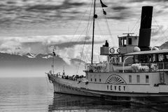 Grayscale Photography of Yevey Sail Boat Stock Photo