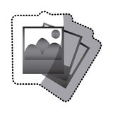 Grayscale pictures photos icon Stock Images