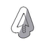 Grayscale pixel cursor con Royalty Free Stock Photos