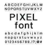 Grayscale Pixelated da fonte ilustração royalty free