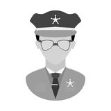 Grayscale police officer icon image Stock Images