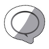 Grayscale round chat bubble icon. Illustraction design Royalty Free Stock Image