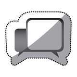 Grayscale square chat bubbles icon. Illustraction design Stock Photography