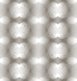 Grayscale symmetric seamless pattern with decorative hearts, art Stock Images