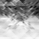 Grayscale triangles abstract geometric background. Gray polygon pattern Stock Photos