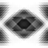 Grayscale triangles and rhombus abstraction geometric seamless background Royalty Free Stock Photo