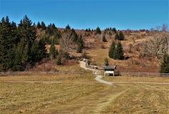Grayson Highlands Massie Gap Trailhead foto de archivo