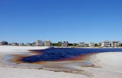Grayton海滩入口 库存图片