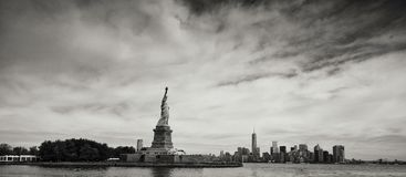 Graytscale Photo of Statue of Liberty Royalty Free Stock Image
